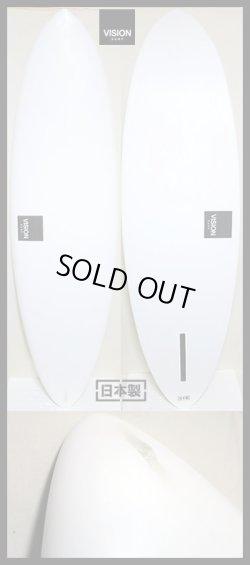 """画像1: 【クラシカル・トラッカー】 VISION/大人シングル・ホワイトピグメント  6'1"""""""